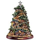 Thomas Kinkade Illuminated Nativity Tabletop Tree: Glory To The Newborn King by Hawthorne Village