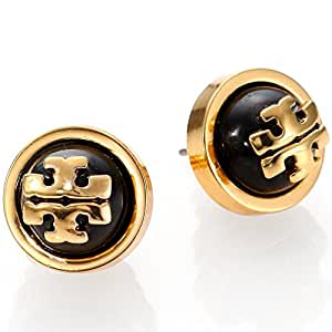 Tory burch melodie pearl logo stud fashion for Tory burch jewelry amazon