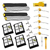 Accessory Kit for Irobot Roomba 800 900 Series Robot Vacuum Cleaner 805 860 870 871 880 890 960 980 Replacement Parts Pack of Extractor,Hepa Filter,Side Brush,Screw,Cleaning Tool,Bumper Strip,Roomba Wheel (set 1)