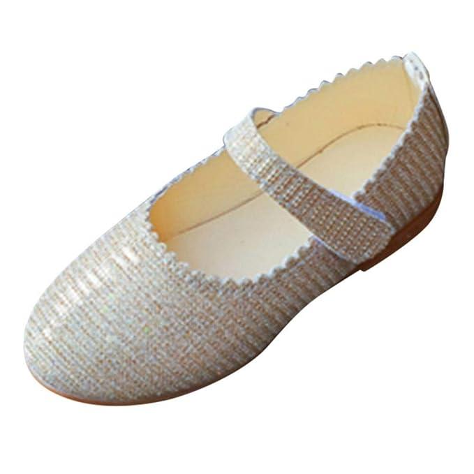 Zapatos de bebé, ASHOP Niña Moda Casuales Zapatillas del Otoño Invierno Sólido Bling Ola Princesa Deporte Antideslizante del Zapatos Individuales 0-12 Años: ...