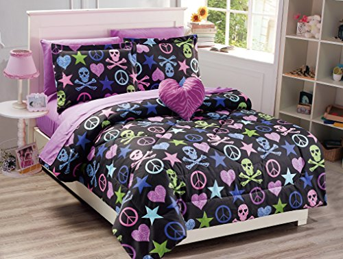 Collection Hearts Skulls Comforter Included product image