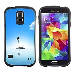 Suave TPU GEL Carcasa Funda Silicona Blando Estuche Caso de protección (para) Samsung Galaxy S5 / CECELL Phone case / / Cute Lonely Island Ocean /