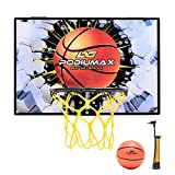 PodiuMax Mini Basketball Hoop Set for Door, Street-Style Basketball Wall-Mount Hoops & Goals Perfect for Bedroom, Office Shoot & Dunk, Come with Mini Ball and Pump