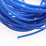 10M Insulation 4mm Braided Sleeve 3 Colors Tight PET Expandable Cable Sleeves Wire Gland Cables Protection Sleeving Sheathing