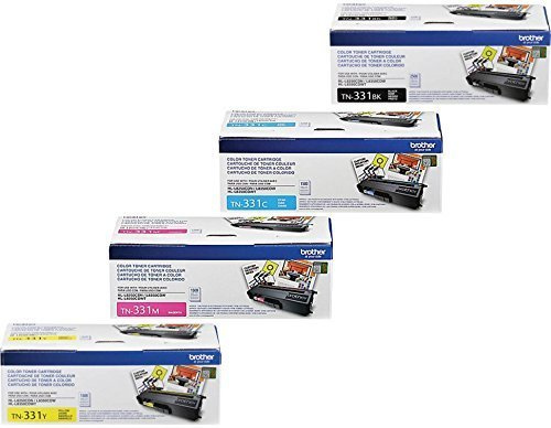 Brother Printer TN331 Cartridge (1, Black-Cyan-Magenta-Yellow - Reseller)