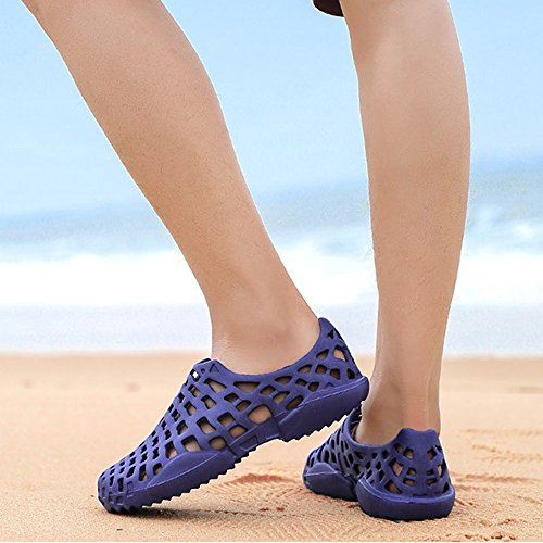 Dry Sandali piedi EU Unisex Blue nudi Water Summer Red Color giardino atletici 40 da a Quick Shoes Size Scarpe Beach 57wAYxw1nq