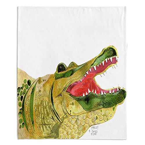 - DiaNoche Fleece Blankets Soft Fuzzy 4 SIZES! by Marley Ungaro Alligator - Medium 60