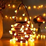Cookey 80 Led Globe String Lights - 10M USB Operated Fairy Lights, Warm White Ball light Perfect for Indoor, Outdoor, Garden, Home, Chrismas, Party, Festival, Wedding Decoration
