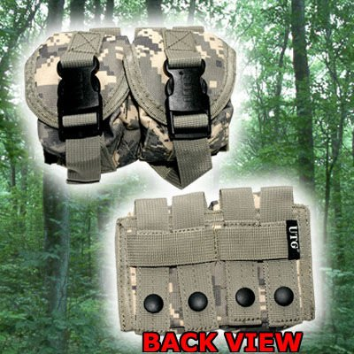 Leapers Utg Web (Leapers Web Grenade Pouch w/ UTG Patterned Quick Release Buckles - Army Digital)