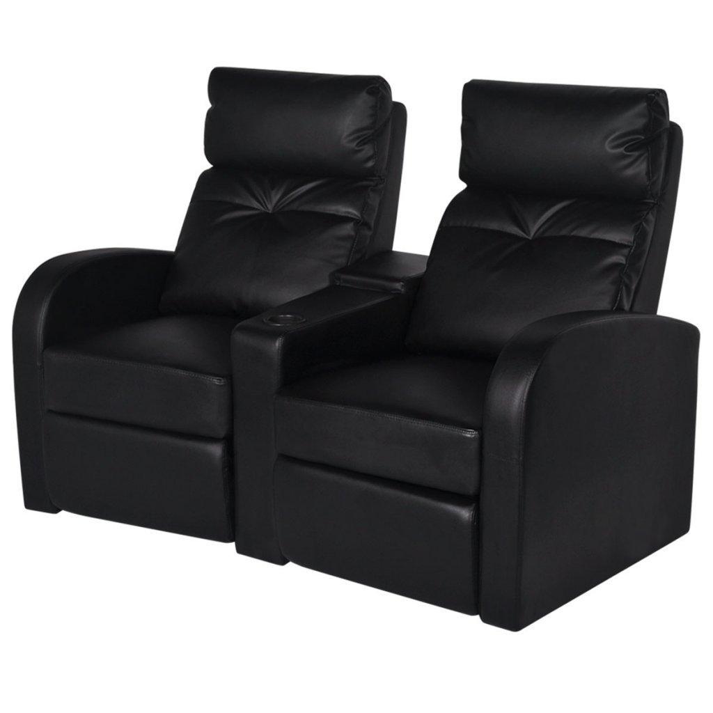 Ansprechend Sessel Couch Foto Von Vidaxl Kunstleder Heimkino Relaxsessel Sofa 2-sitzer Schwarz