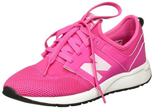 NEW BALANCE - Pink Sportschuh mit Schnürsenkeln grand school, aus Synthetik und Mikrofaser, oberer elastischer Saum, Mädchen, Damen Fuxia