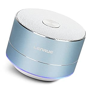 LENRUE Portable Wireless Bluetooth Speaker with Built-in-Mic,Handsfree Call,AUX Line,TF Card for Iphone Ipad Android Smartphone and More by LENRUE