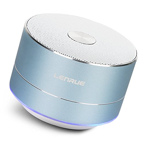LENRUE Portable Wireless Bluetooth Speaker with Built-in-Mic,Handsfree Call,AUX Line,TF Card for iPhone Ipad Android Smartphone and More (Sky Blue)