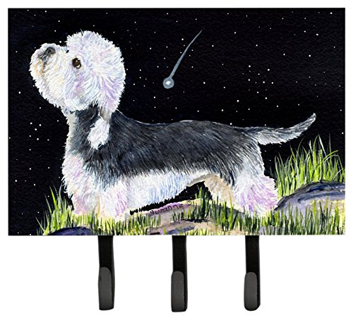 Caroline's Treasures SS8486TH68 Starry Night Dandies Dinmont Terrier Leash Holder or Key Hook, Large, Multicolor