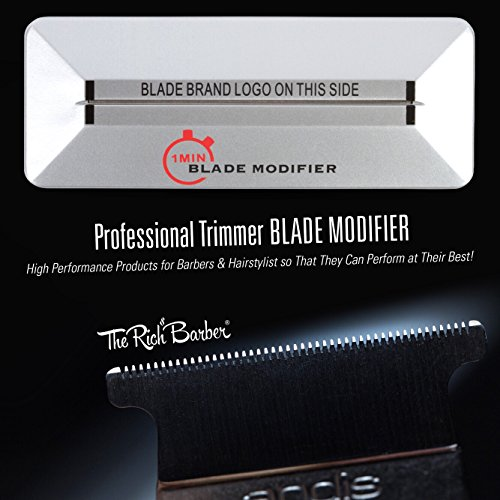 1Min Blade Modifier by The Rich Barber | 1 Minute Clipper Sharpener Tool for Andis, Wahl, Oster, BaByliss Trimmer Blades & More by The Rich Barber (Image #1)