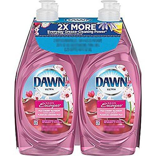 (Dawn Ultra Dawn Escapes Fuji Cherry Blossom Scent Dishwashing Liquid, 18 Ounce, Twin Pack)