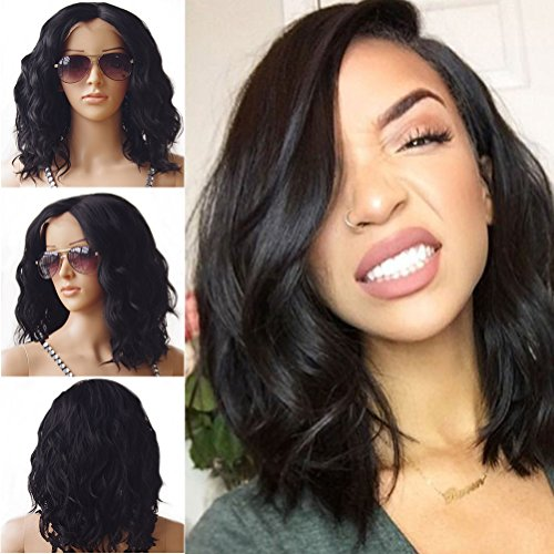 - Brazilian Lace Front Hair Wigs For Black Women Body Wavy Wig With Natural Hairline Full End Short BOB wig