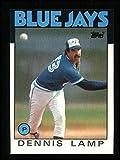 1986 Topps # 219 Dennis Lamp Toronto Blue Jays (Baseball Card) Dean's Cards 8 - NM/MT