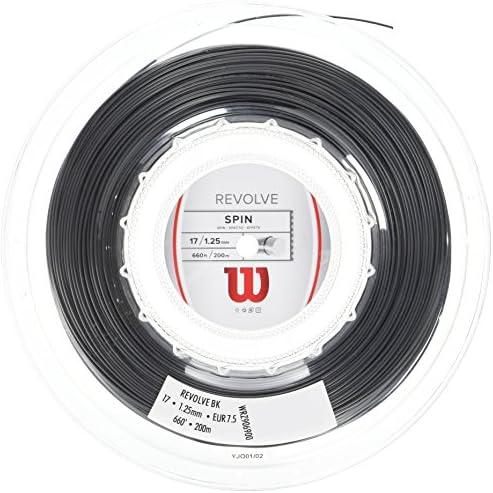 Wilson Unisex tennissaite Revolve zwart rol van 200 meter 125 mm WRZ906900