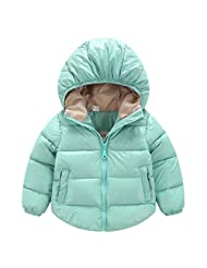 Baby Kids Soft Thick Winter Bodysuit Jacket Snowsuit Windproof Outwear for 18-24M Lake Blue