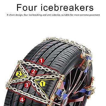 LilouGG Snow Chains Car Anti Slip Tire Chains Ices-Breaker Anti-Skid Chains Car Tire Snow Chains Car Tire Snow Chains Fits for Most Car//SUV//Truck 6-14 inch 1pcs snow chains