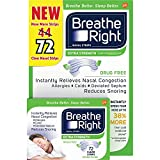 Breathe Right Nasal Strips, Extra Clear for Sensitive Skin, 72 Clear...