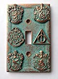 Harry Potter (House Crests) Light Switch Cover - Aged Copper/Patina or Stone (Copper/Patina)