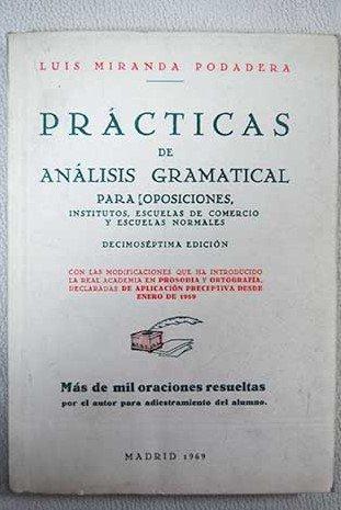 Prácticas de análisis gramatical