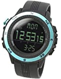 [Lad Weather] Watches German Sensor Digital Quartz Compass Altimeter Barometer Chronograph Countdown Timer Lap Time Alarm Outdoor Sport (Climbing/ Hiking/ Running/ Walking/ Camping) Men Women Black Blue