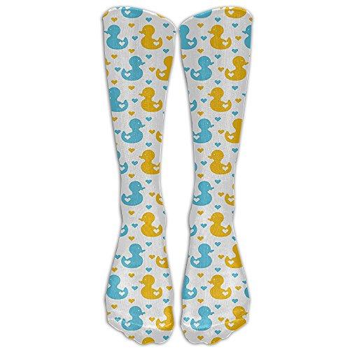 Cute Little Duckling Athletic Tube Stockings Women's Men's Classics Knee High Socks Sport Long Sock One Size