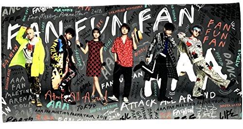 AAA FAN MEETING ARENA TOUR 2018~FAN FUN FAN~ 公式グッズ バスタオル -FAN FUN FAN-