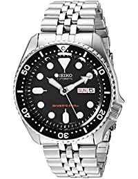 Mens Black Boy automatic divers watch SKX007K2