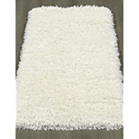 Ottomanson Pure Fuzzy Flokati Soft High Pile Faux Sheepskin Runner Rug, (2 x 5) (Ivory)