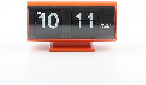 twemco Homeloo Retro Modern Germany Quartz Flip Clock Qt30t Orange