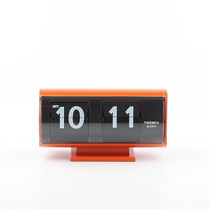 cdc61df3 Amazon.com: twemco Homeloo Retro Modern Germany Quartz Flip Clock Qt30t  (orange): Home & Kitchen