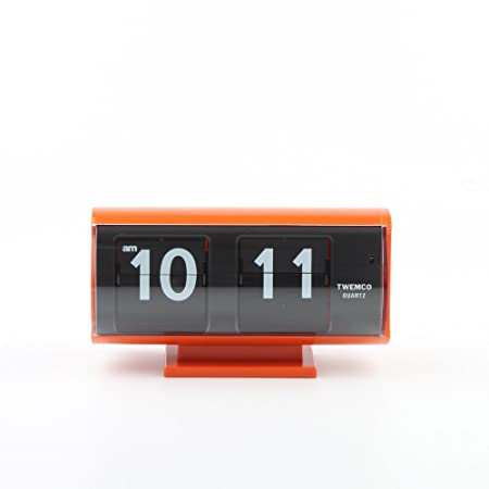 twemco Homeloo Retro Modern Germany Quartz Flip Clock Qt30t orange