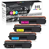GPC Image Compatible Toner Cartridge Replacement for Brother TN315 TN 315 TN315BK TN310 for Brother HL-4150CDN MFC-9970CDW HL-4570CDW MFC-9460CDN Printer 4 Pack (1 Black,1 Cyan,1 Magenta,1 Yellow)