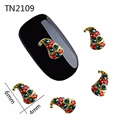 Amazon Com 10pcs Lot 3d Glitter Long Christmas Hat Red And Green
