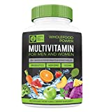 Wholefood Power Daily Multivitamins and Minerals for Women and Men: 90 Count - 30 plus Real Whole Food Fruits and Vegetables, Probiotics, Digestive Enzymes, B-Complex. Vegan and Made in the USA