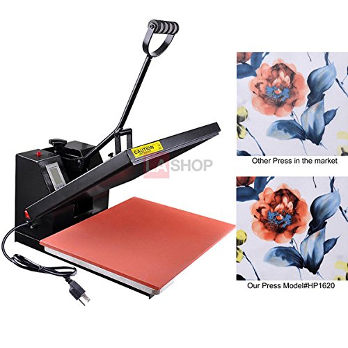 High Pressure 16x20 Heat Platen Press Machine Digital Sublimation Transfer Printing LCD Timer Counter for T-shirts Mouse Mats Jigsaw Puzzles Ceramic Tiles Coasters Place Mats