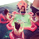 ZHONGJI Inflatable Water Toys Swimming Pool Inflatable Float Leisure Entertainment Desk Tables Chairs Full Sets