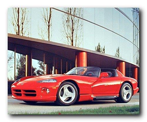 Sports Car Wall Decor Red SRT Dodge Viper Automobile Art Print Poster (16x20) ()