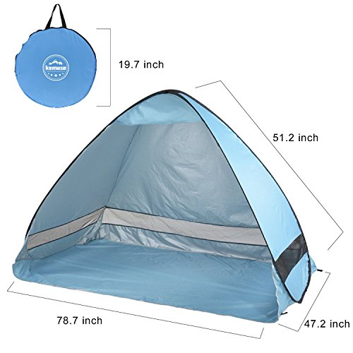 Kemuse Automatic Pop Up Portable Beach Tent Anti-Uv Shelter Cabana Beach Tent/ Sun Shelter/ Beach Umbrella ...  sc 1 st  Outdoor Store Online & Automatic Pop Up Portable Beach Tent Anti-Uv Shelter Cabana Beach ...