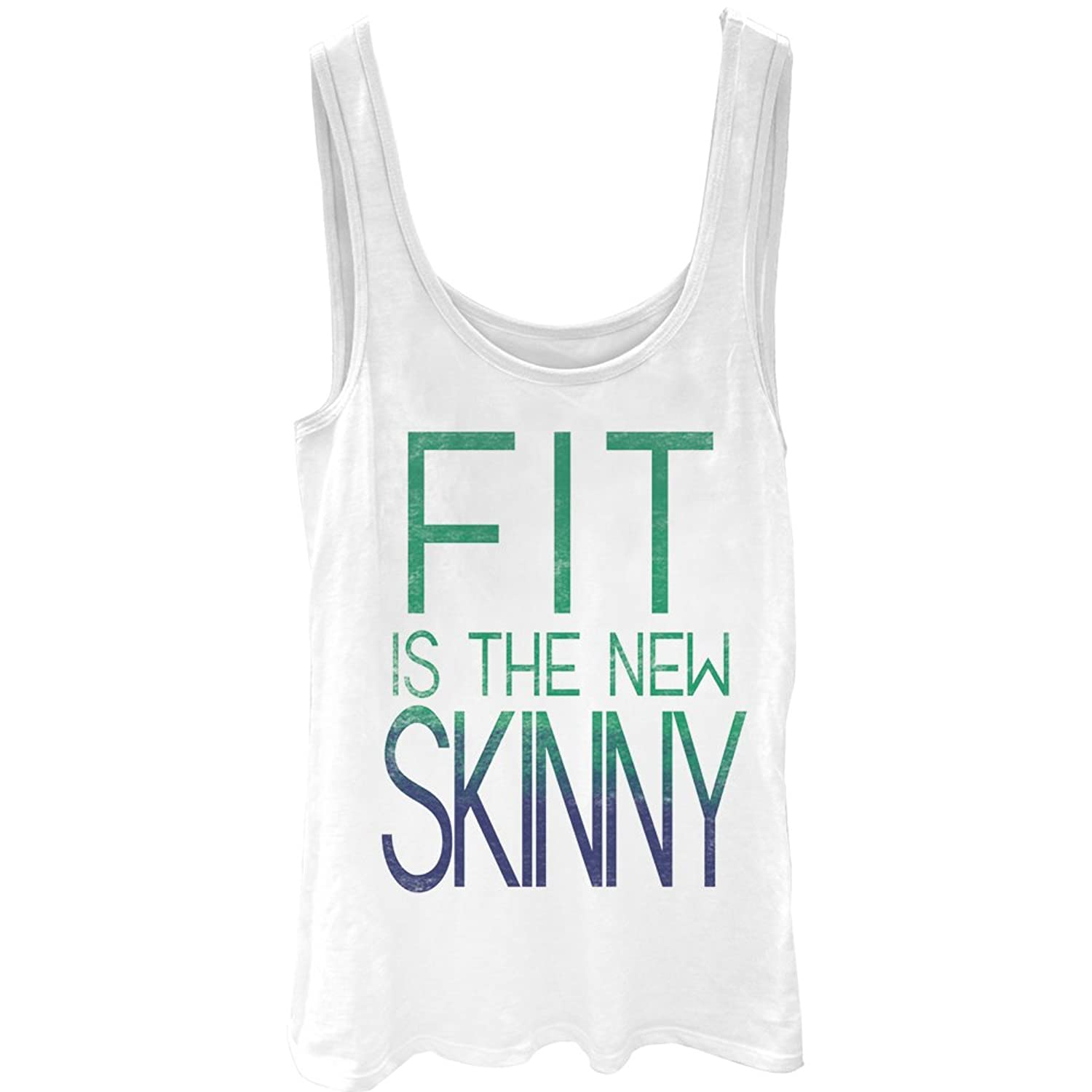 CHIN UP Fit is the New Skinny Juniors Graphic Tank Top