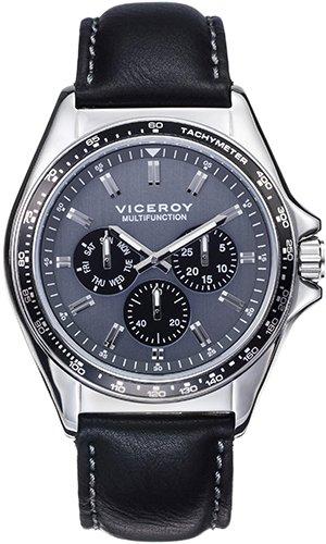 Viceroy Reloj Multiesfera para Hombre de Cuarzo con Correa en Cuero 432353-17