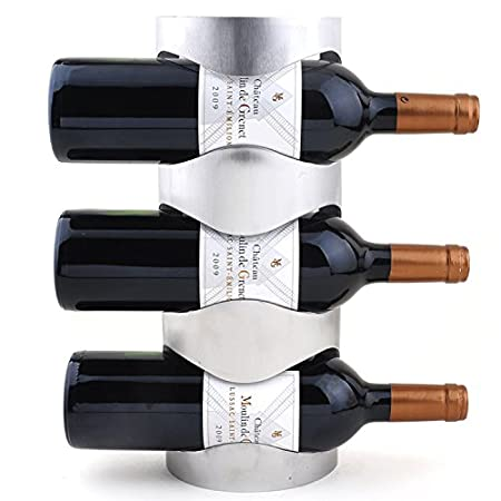 Paracity Creative Stainless Steel Wall Mounted Wine Rack Bottle
