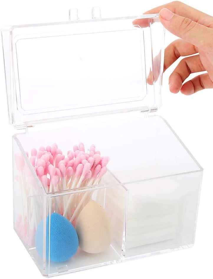 Chinashow Soporte de Recipiente de algodón acrílico – en Caja de algodón acrílico Organizador de dispensador de algodón: Amazon.es: Hogar