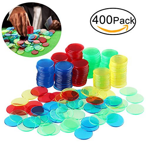 Bingo Chips Markers for Bingo Game Cards Color Counters 400pcs by BESTOYARD