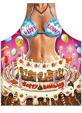 Schürze Happy Birthday Frau Sexy Partyschürze Grillen Amazon De Garten