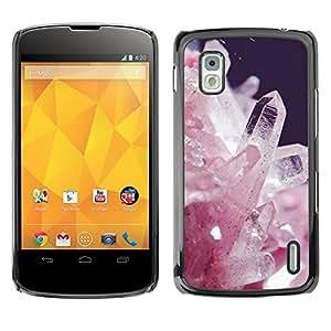 Exotic-Star ( White Crystals Precious Stones Spirit ) Fundas Cover Cubre Hard Case Cover para LG Google NEXUS 4 / Mako / E960
